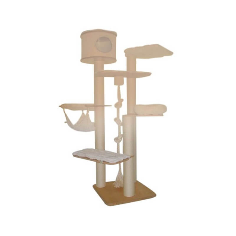 kratzbaum genf 220 cmempfohlen f r grosse katzen holzplatte 70x70cm. Black Bedroom Furniture Sets. Home Design Ideas