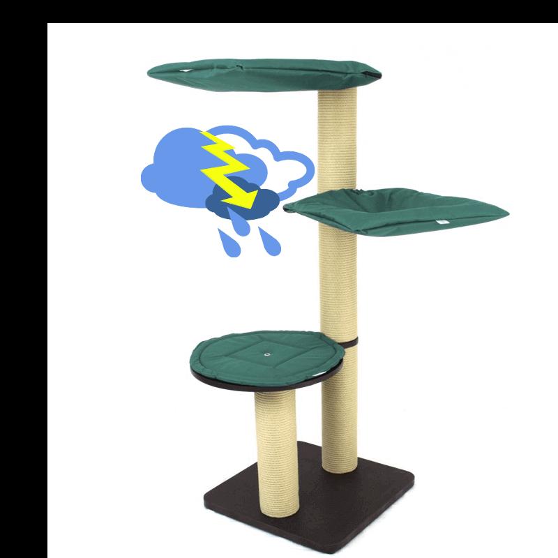 kratzbaum outdoor 2kratzbaum geeignet f r gro e katzen holzplatte 5. Black Bedroom Furniture Sets. Home Design Ideas