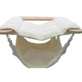 Wooden hammock with hammock