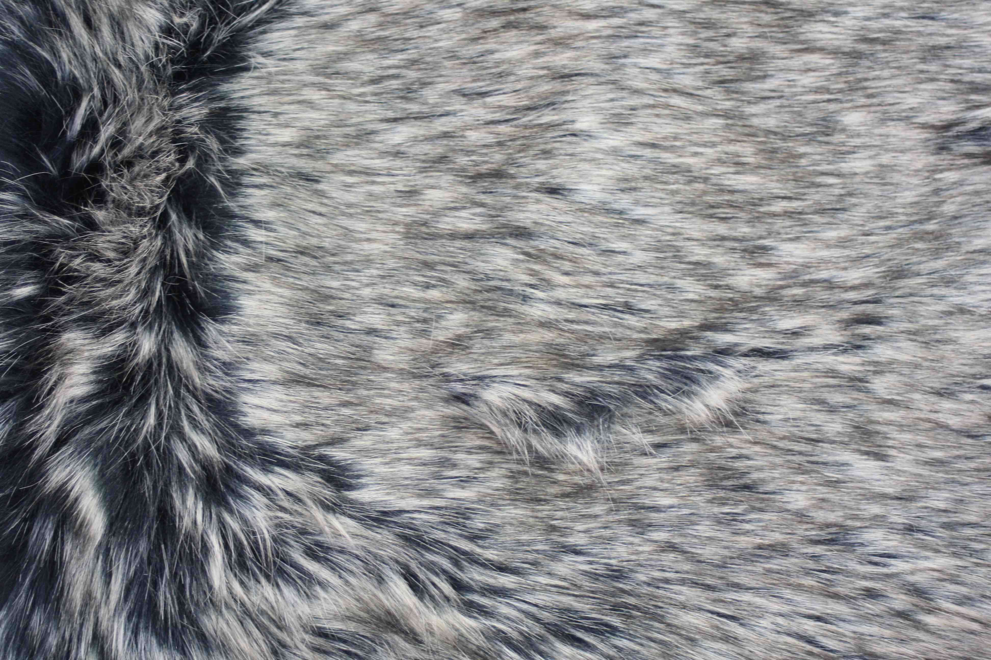 Faux fur wolf brown